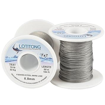 Braided steel wire for fishing New Fil d/'acier tresse FLASHMER pour la peche