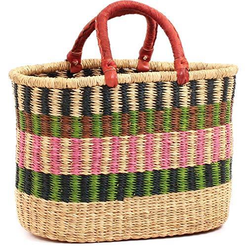 (Fair Trade Ghana Bolga African Spring Banners Oval Shopper 15-17
