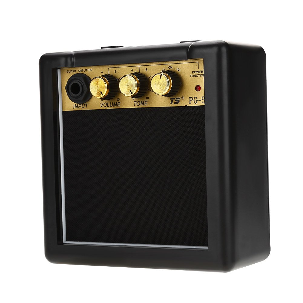 Guitar Amplifier Speaker, High Sensitivity 5W Electric Guitar Amplifier Speaker Volume Tone Control Accessory by Dilwe