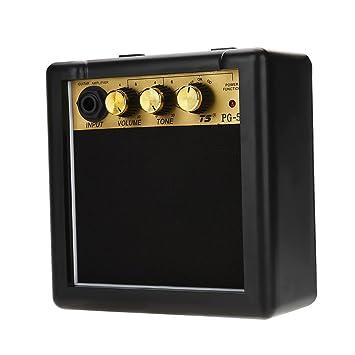 Dilwe Guitarra Amperio Amplificador del Altavoz, Alta Sensibilidad 5W Guitarra Eléctrica Altavoz Amplificador Volumen Tono Accesorio del Control: Amazon.es: ...