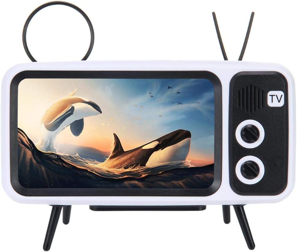 33ft Wireless Range V4.2 MOGOI Retro TV BT Speaker Portable Vintage Wireless Loudspeaker 3D Stereo Sound Quality Black AUX FM BT Optional TF Card Slot