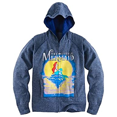 The Little Mermaid Ariel Womens Front Zip Hoodie (XSmall)