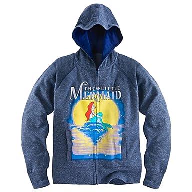 The Little Mermaid Ariel Womens Front Zip Hoodie (XSmall)