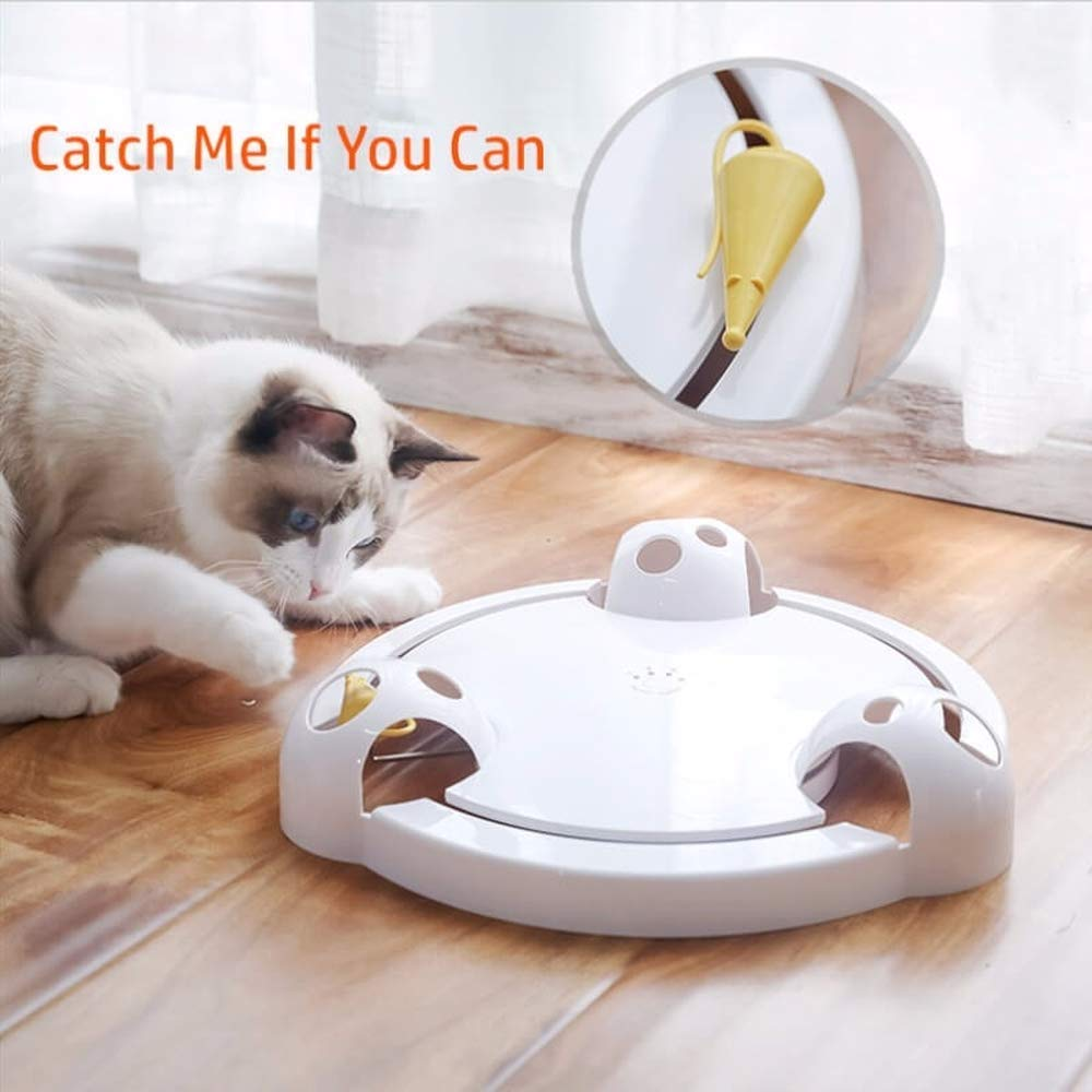 cxvlkbjosdf Catch Me If You Can - Fully Automatic Cat Fun Toy, CT02