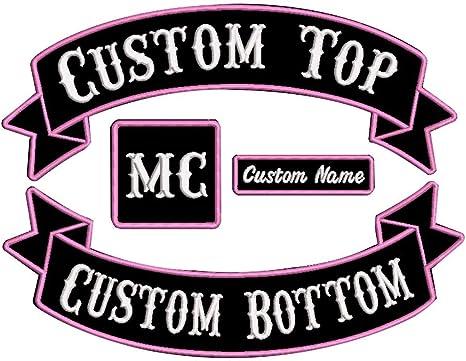 Custom Rocker Patch Embroided Patch Biker Patch Set Iron on Vest Jacket