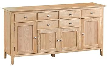 The Furniture Outlet Bergen Oak Extra Large 4 Door Sideboard Amazon