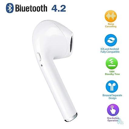 PETHREE Auriculares inalámbricos, Auriculares Bluetooth Mini Auriculares Intraurales con Auriculares Estéreo Inalámbricos, Micrófono Integrado