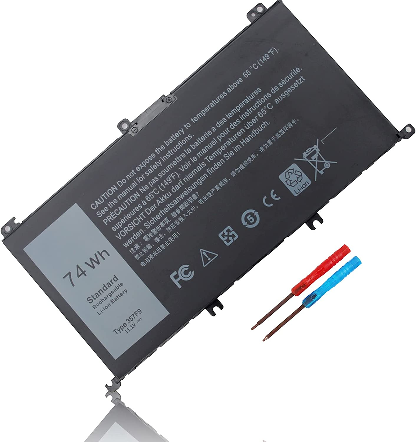 74WH Type 357F9 71JF4 11.4V Battery for Dell Inspiron 15 7000 Gaming 15 7559 i7559 7557 i7557 5577 i5577 5576 7566 7567 i7559-2512blk i7559-5012gry Series P65F P65F001 P57F P57F003 071jf4 0gfj6
