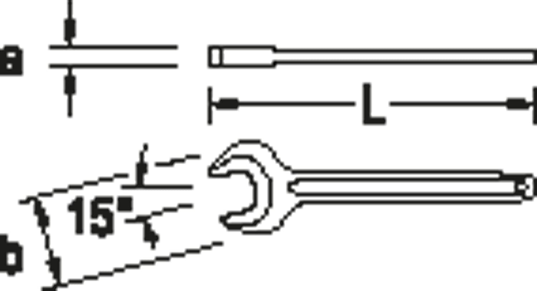 ergonomisch 22 mm optimale Kontaktfl/ächen Maulstellung 15/° sorgf/ältig geschmiedet sicherer Griff durch Profilschaft handlich GEDORE 894 22 Einmaulschl/üssel exakt geschliffenens Nennma/ß