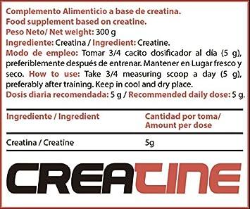 Dosis recomendada de creatina al dia