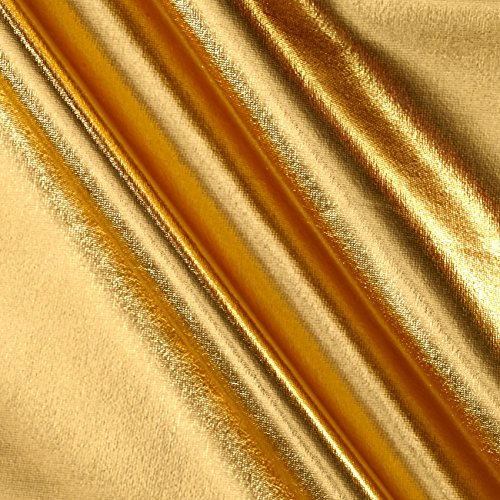 Ben Textiles 0450606 Foil Lame Knit Spandex Gold Fabric by The Yard