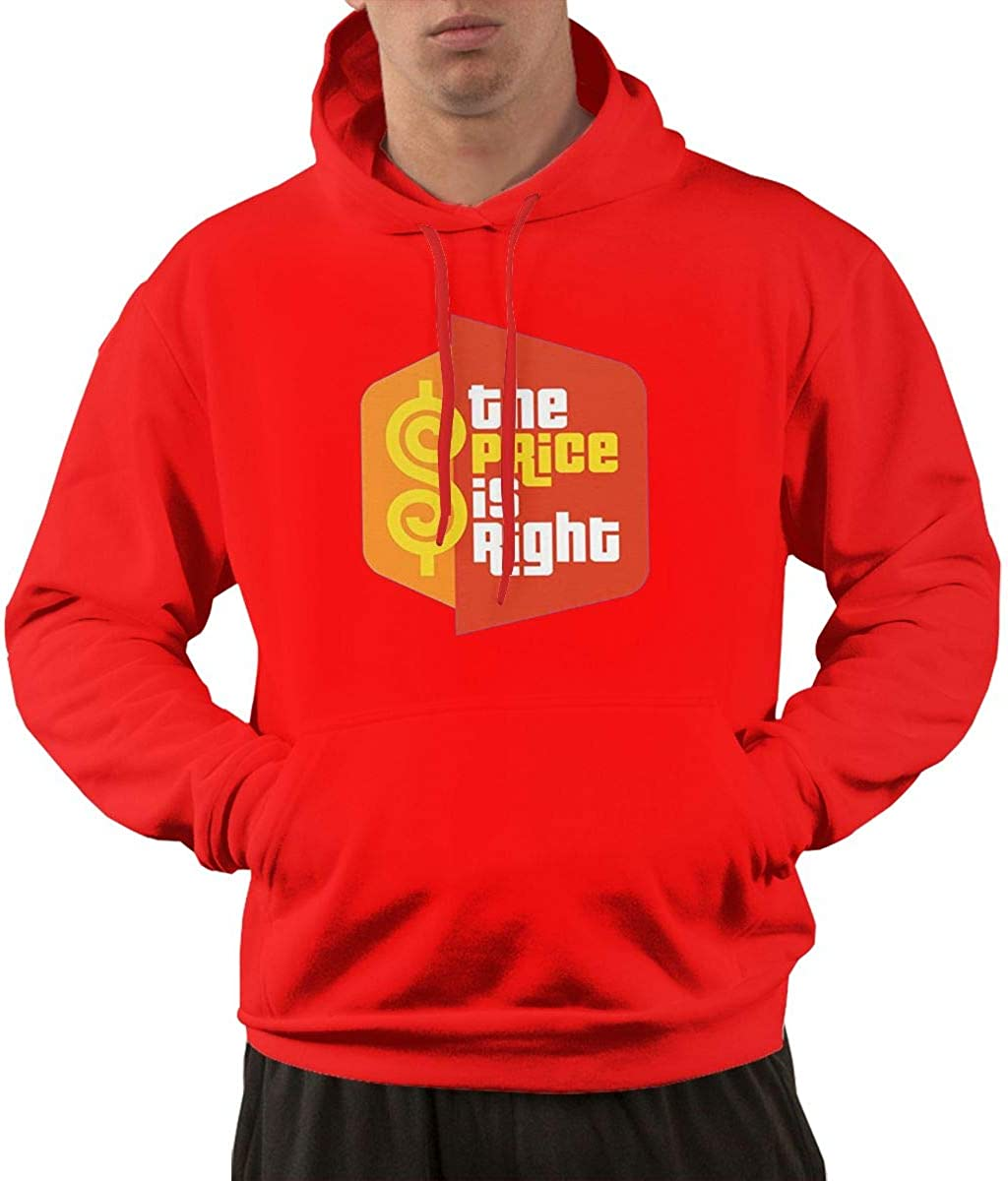 DONGLY Mens The Price is Right Nordic Winter Personality Wild Long Sleeves Trendy Hoodies with Pocket