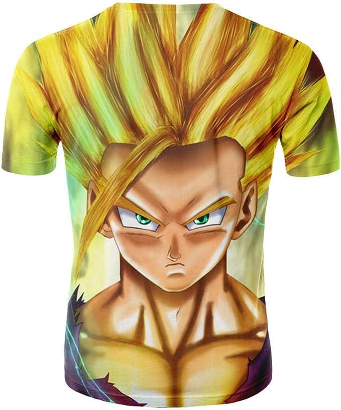 Camisetas,Camisa Amarilla para Hombre De Goku,Camiseta Animada De Manga Corta con Dibujos Animados Impresos En 3D,Camiseta Genial para Hombres Y Mujeres Jóvenes,6XL,Amarillo: Amazon.es: Ropa y accesorios