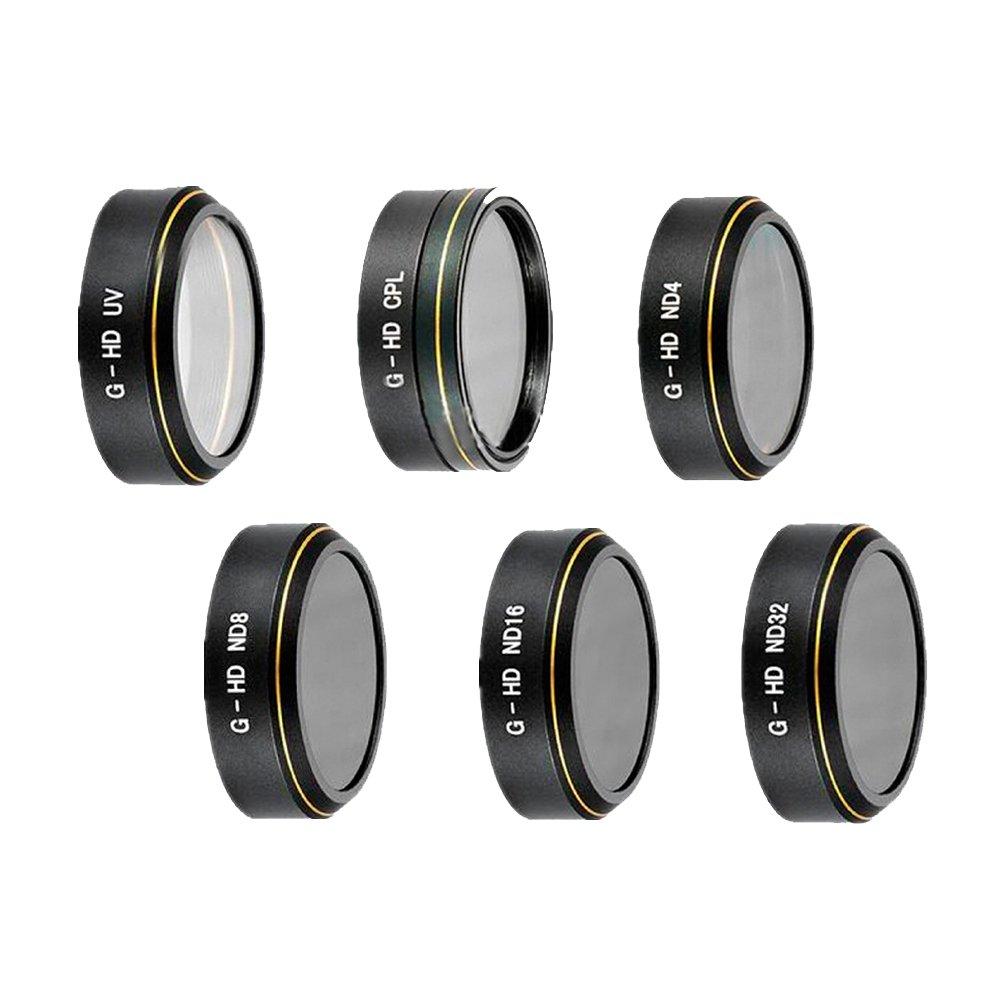 Zhuhaixmy Gold Draht Muster Kamera Filter Linse UV+CPL+ND4+ND8+ND16+ND32 Set für DJI Phantom 4 Advanced/4 Pro+ Camera