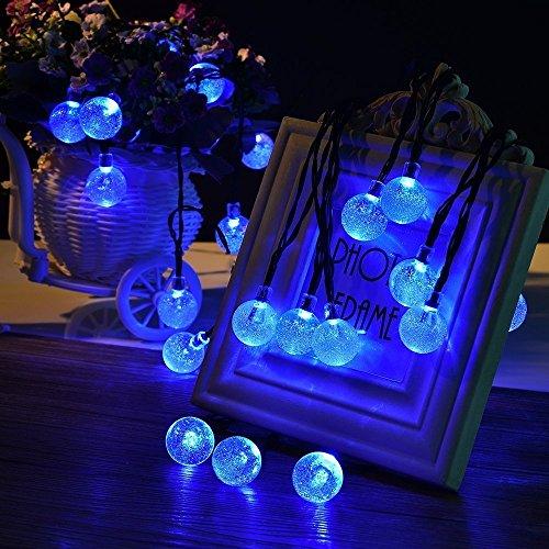StillCool Solar String Lights, 16ft 30 LED Waterproof Outdoor Globe Bulb Fairy Lighting for ...
