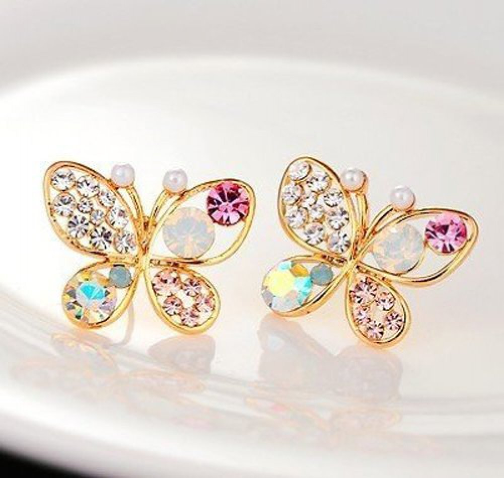 Butterfly Earrings Only $1.40.