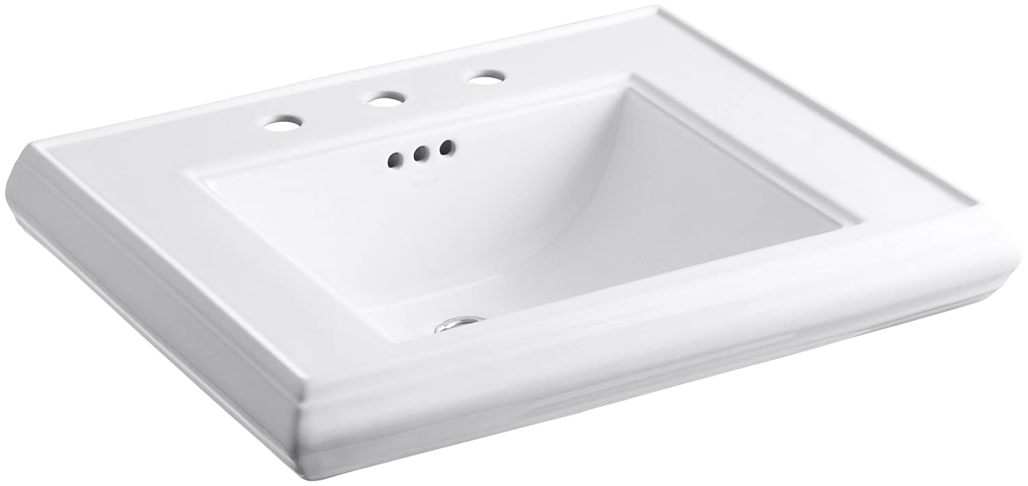 KOHLER K-2259-8-0 Memoirs Pedestal Bathroom Sink Basin, White ... on bathroom sink with water, bathroom sinks kohler toilet colors, bathroom vanity wall mirror, bathroom fixtures by kohler, bathroom drop in sink closeout,
