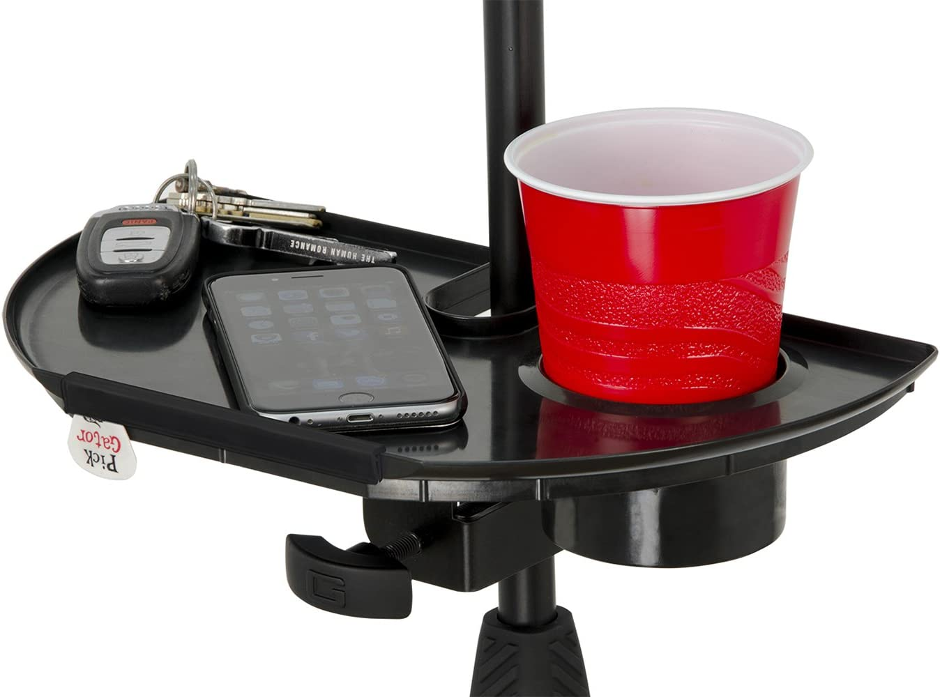 Mic Stand Accessory Tray with Drink Holder Gator Cases GFW-MICACCTRAY