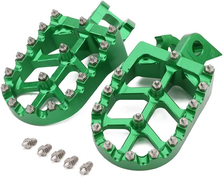 AnXin Foot Pegs Pedals Rest Footpegs CNC For KAWASAKI KX125 KX250 1997-2001 1997 1998 1999 2000 2001 Motorcycle