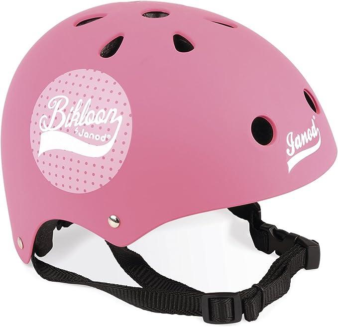 Janod Bikloon Casco Bici per Bambini Regolabile, Colore Rosa, 1