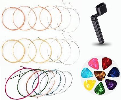 Cuerdas para guitarra acústica, 3 juegos de cuerdas de repuesto de ...