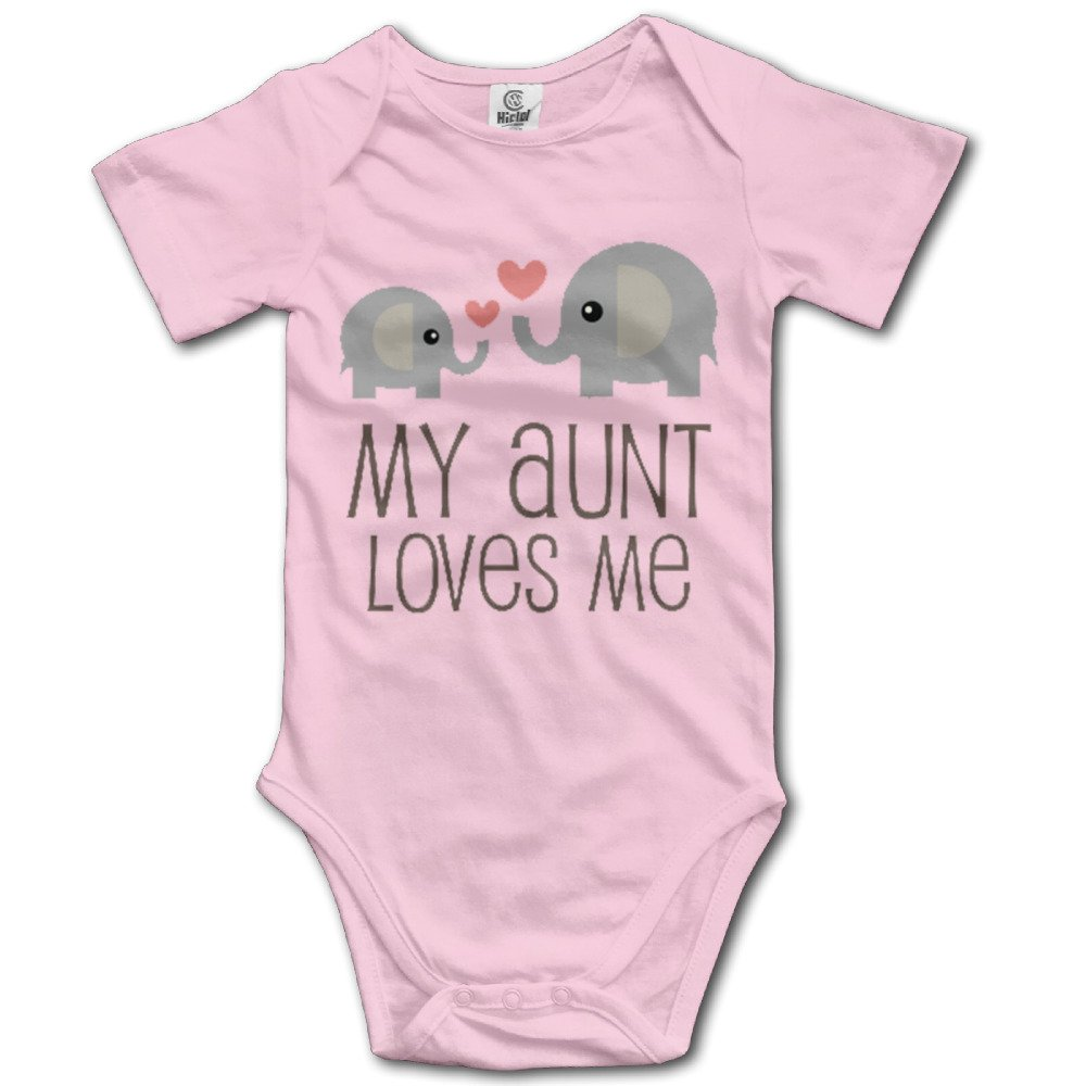 My Aunt Loves Me Baby Short-Sleeve Bodysuit