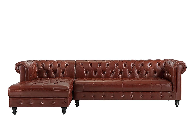 Amazon.com: Divano Roma Furniture Classic - Sofá de piel ...