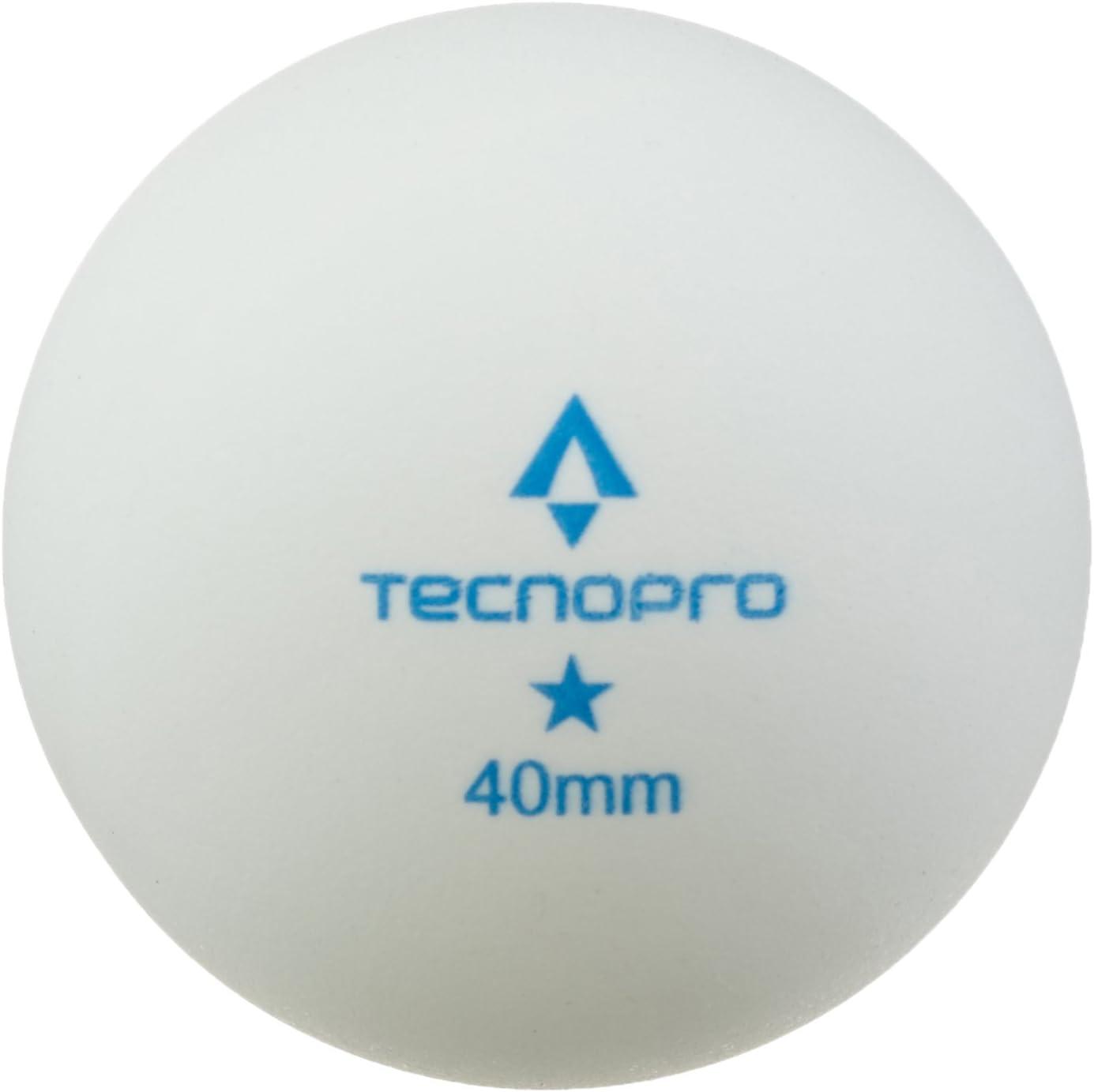 Tecno Pro Unisex Pelota de Tenis de Mesa de 1/Estrella de Tenis de Mesa de Entrenamiento