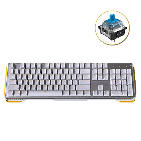 James Donkey 619 Mechanical Keyboard Blue Switch GATERON 104 Key 50 Million  Click Programmable 13 Customize Backlit LED NKRO Anti Ghosting Aluminum
