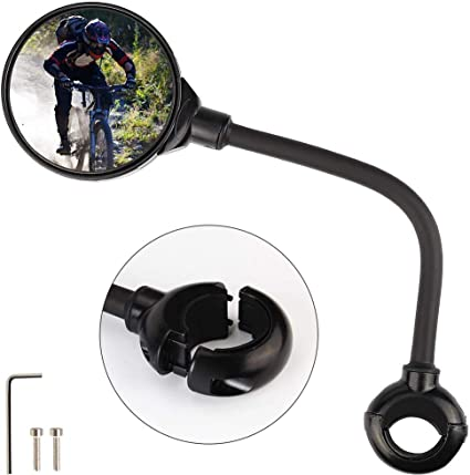 2x 360° Fahrrad Spiegel Fahrradrückspiegel Fahrradspiegel Set für Sport Fahrrad