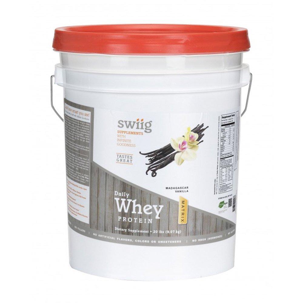 swiig Daily Whey Matrix Vanilla - 20lb