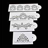 MEXUD Lace Flower Cake Cookie Fondant Side Baking Wedding Stencil Decorating DIY Tools (3#)