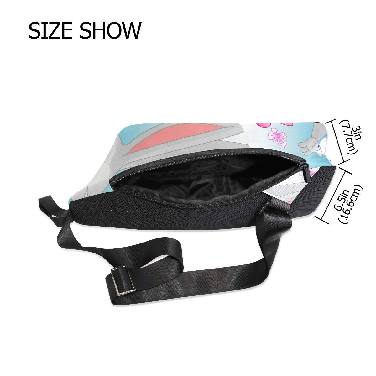 Unisex Messenger Bag Happy Easter Bunny Rabbit Insect Shoulder Chest Cross Body Backpack Bag