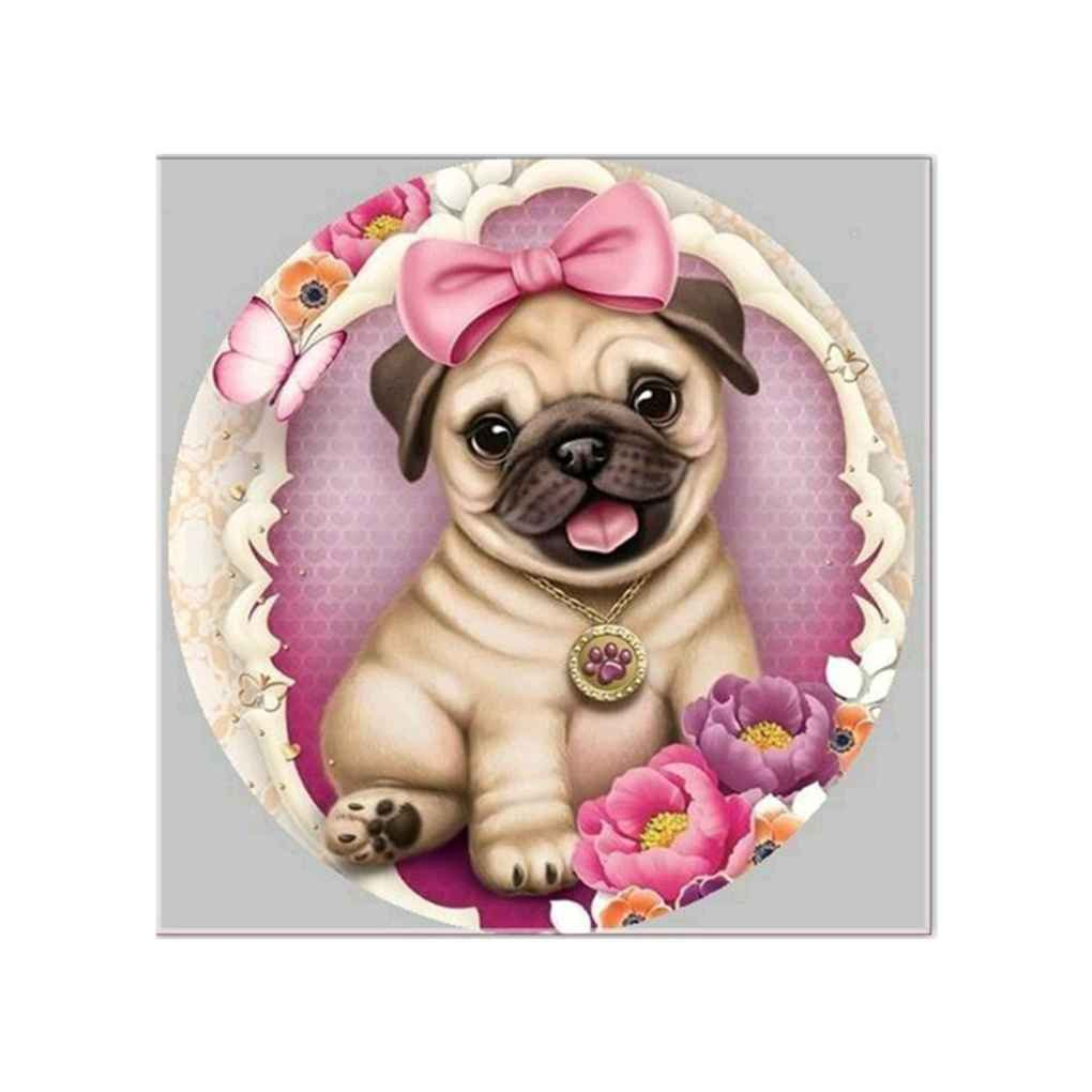 Providethebest 5D Smile Dog Resin Diamond Cross Stitch DIY Art Needlework Home Office Embroidery Painting Picture Provide The Best
