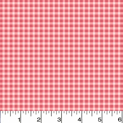 Flannel Welcome Home Check Pink Fabric Sold by the Yard