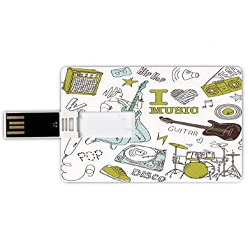 8GB Forma de tarjeta de crédito de unidades flash USB Fiesta ...