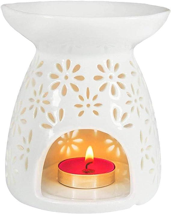 Holiday Lane White Porcelain Love Led Candle Holder