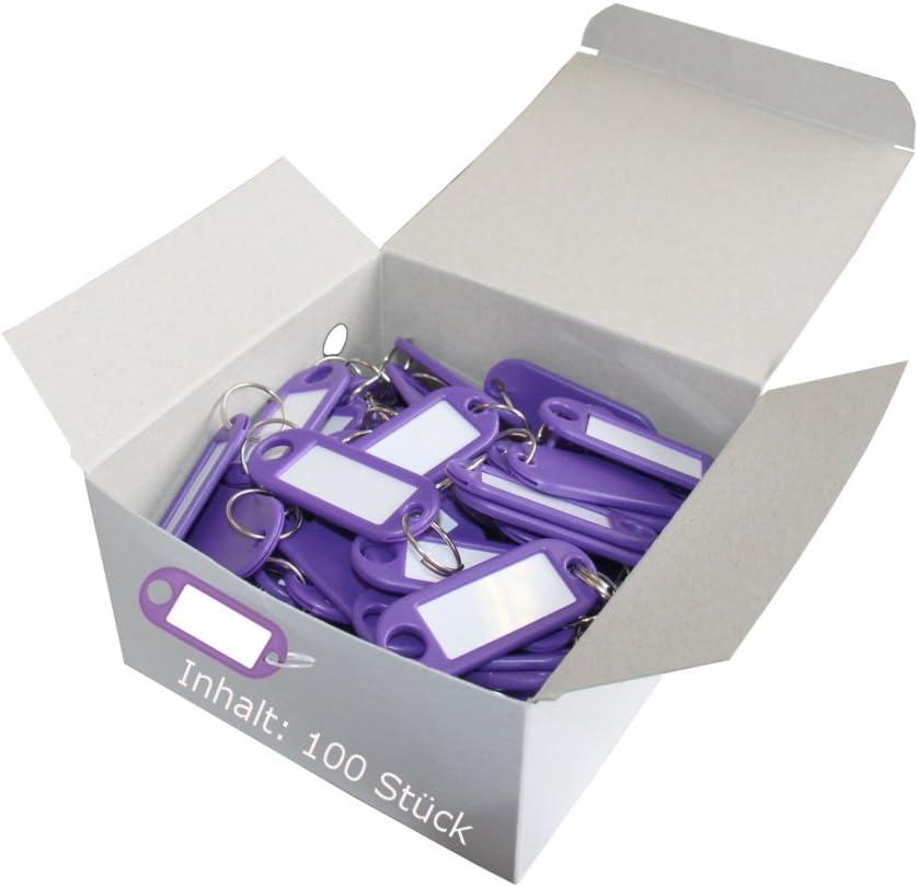 Violett Wedo 262803400/Porte-cl/és plastique avec crochets en S Lot de 100//étiquettes interchangeables