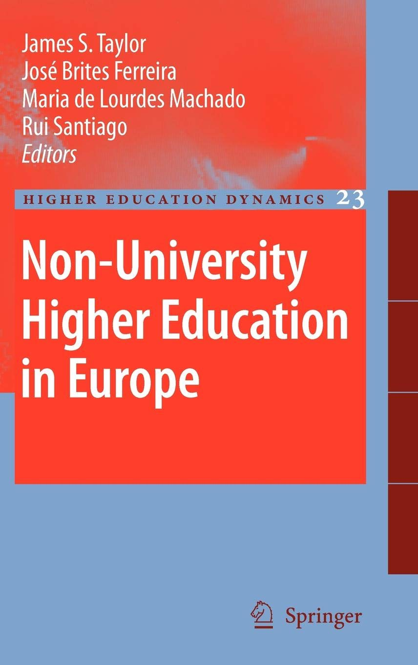 Non University Higher Education In Europe  Higher Education Dynamics  23  Band 23