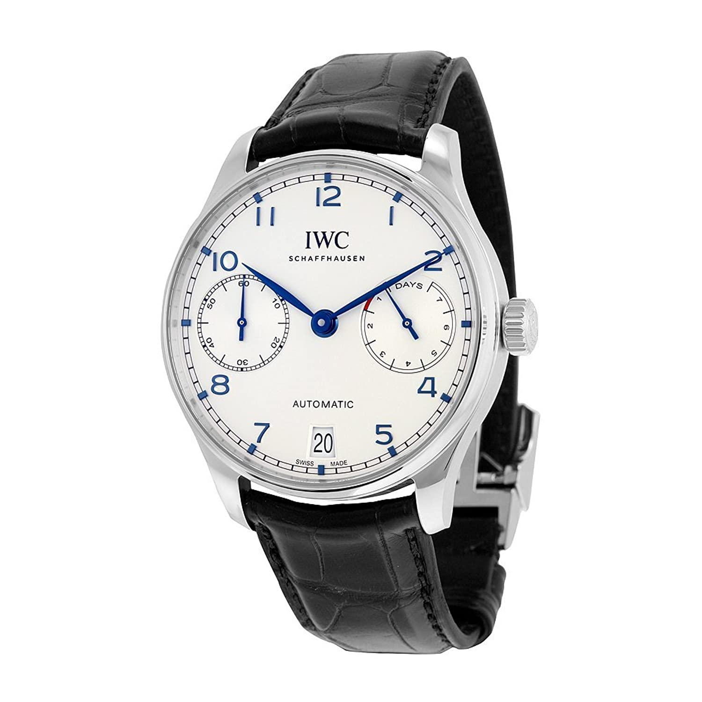 IWC メンズ スイス オートマチック式ステンレススチールカジュアル時計 色:ブラック (モデル:IW500705) B01417GCRC