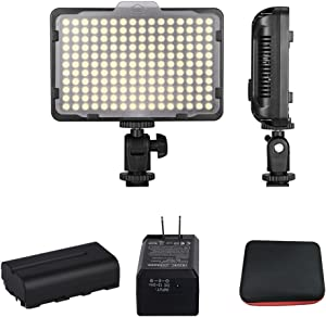 Bemaxy Digital SLR Camera Lighting Kit 176 Ultra Thin Dimmable Digital Camera Photo/Studio Video LED Light Camcorder Lamp Panel with Color Filters for Nikon, Canon, Panasonic( with Battery)