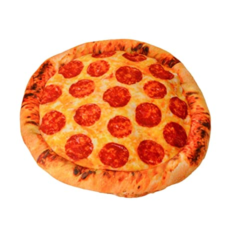 Pizza Cojín - Pizza de salami almohada: Amazon.es: Hogar