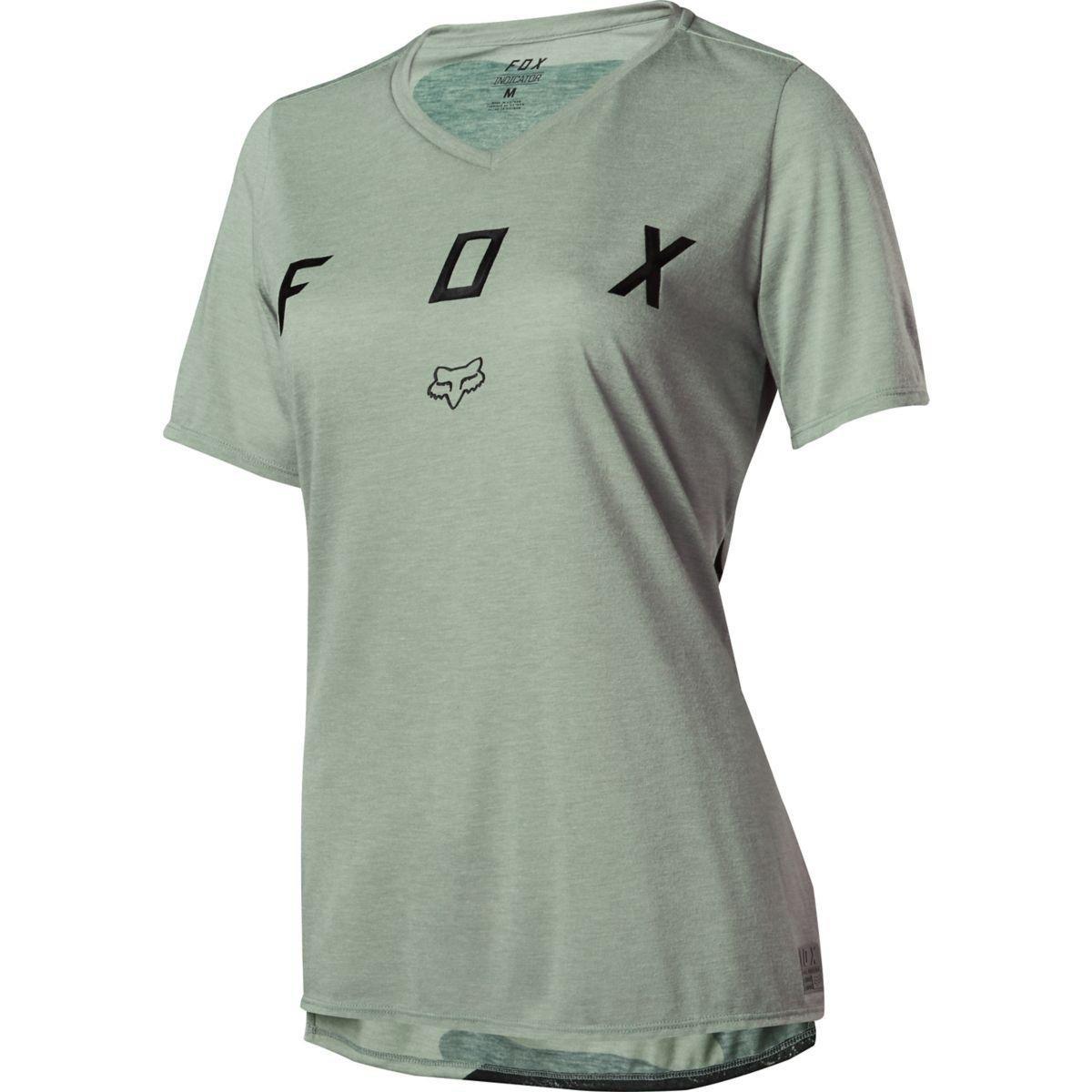 Fox Girls Trail-Jersey Kurzarm Indicator Mash Camo - Sage
