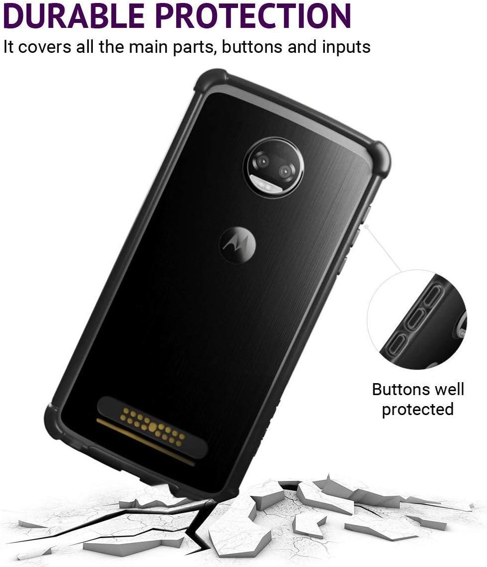 Casewe - Funda para Motorola Moto Z2 Play/Bumper Protector Compatible con Moto Mods: Amazon.es: Electrónica