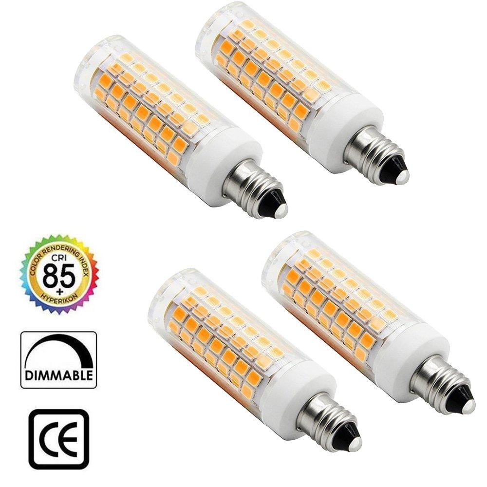 4パックe11 LED電球、彼は88 LEDウォームホワイト電球5 W 3000 K 110lm AC 110 V電球( r88 X , 3000 K ) B07C3P5CS8