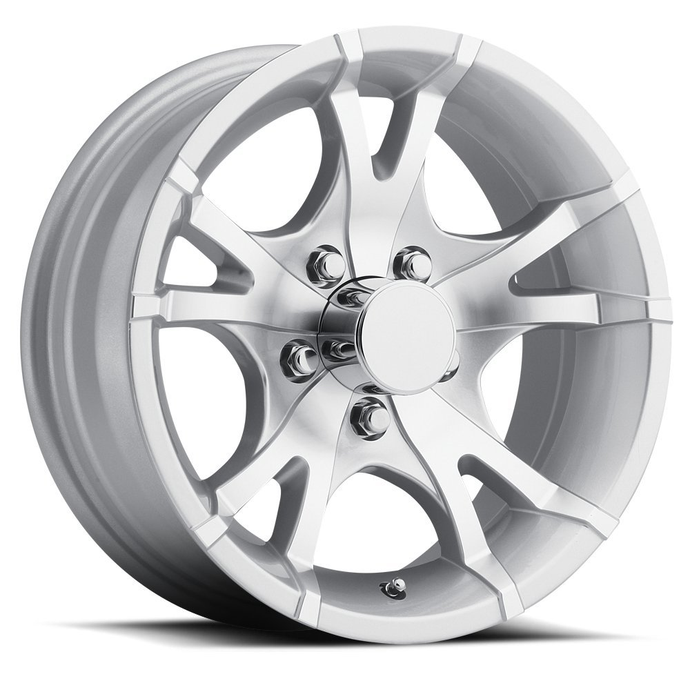 SENDEL T07 ALUMINUM TRAILER WHEEL WITH SILVER MACHINED FINISH 13X5.5 5X4.50(114.3) +0 3.19