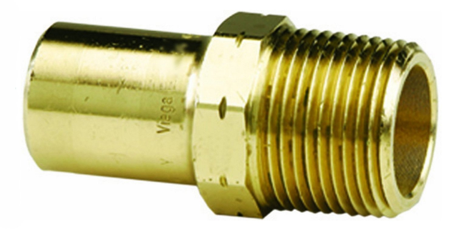 VIEGA 79405 Propress Zero Lead Bronze Adapter with Male 1'' x 1'' FTG x Male NPT (3-Pack) by Viega