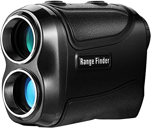Range Finder for Golf and Hunting with Pinsensor – Laser Binoculars-6xmagnification – Free Battery – Balck