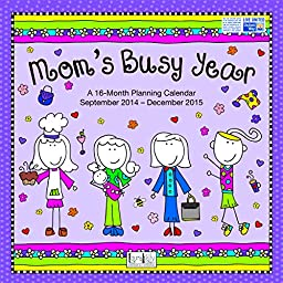 Avalon 12 x 12 Inches Laure Kelly Mom\'s Busy Year 2015 16-Month Wall Calendar (86416)