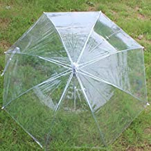 Pinovk Useful Transparent Clear Automatic Umbrella for Wedding Party Favor